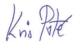 Kris Poté writes